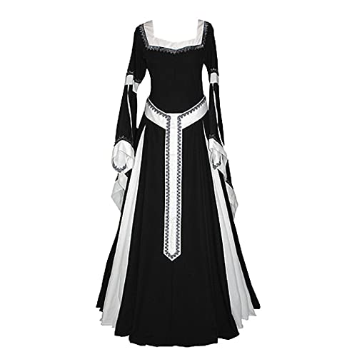 7d148f804a8 Misassy Womens Medieval Dress Renaissance Costumes Irish Over Long Dress  Cosplay Retro Gown
