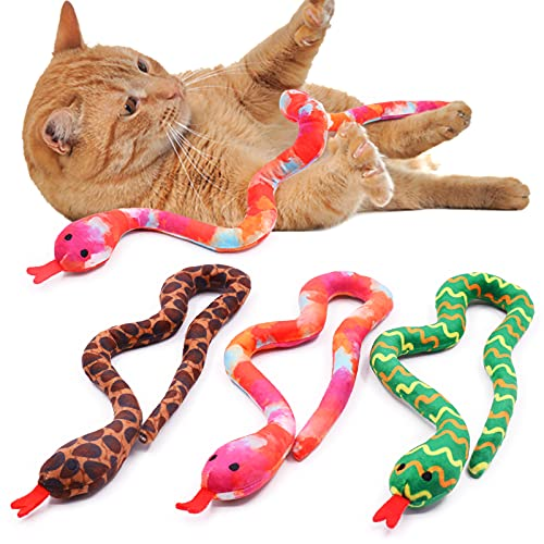 Snake Catnip Toys Kitten Supplies Interactive Catnip Toys for Indoor Cats Snakes Cat Toy Gift for Cat Lovers Dental…