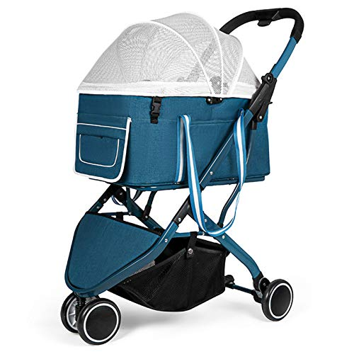 BNMY Pet Stroller Jogger Folding Travel Carrier Langlebige 3 Räder Mit Getränkehaltern Wasserdichter Welpenwagen...