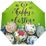 Joyeuses Pâques Mignon Lapin Fleurs Florales Oeufs Ouverture Automatique Fermer Soleil Pluie Parapluie