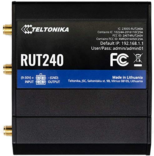 Teltonika RUT240 4G /LTE & WiFi Cellular Router with Ethernet and I/O...