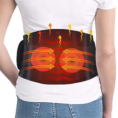 Heating Pad for Back Pain- Dreamegg Heating Pad for Lower Back Pain Relief with Vibration,...