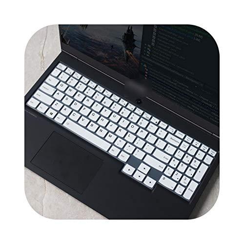 Teclado para teclado Lenovo IdeaPad Gaming 3i 3 i 15 AMD 15.6 pulgadas 2020 (silicona), color blanco