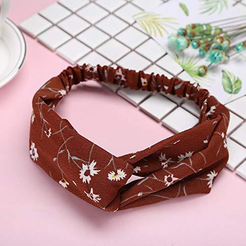 Miwaimao Vrouwen Meisjes Zomer Haarband Gedrukt Turban Retro Crossover Bandage Bandana Turban Haarband Headdress