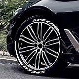 Rainnao Adesivo per pneumatici per moto, camion, auto, con lettera adesiva adesiva per auto, modifica personalità, 3D, adesivi per pneumatici per auto, robusti e tranquilli trasferibili