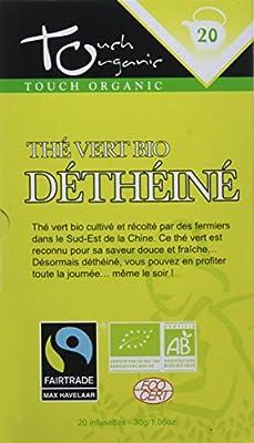 Touch organic Thé Vert Déthéiné Bio 20 Sachets 30 g parent