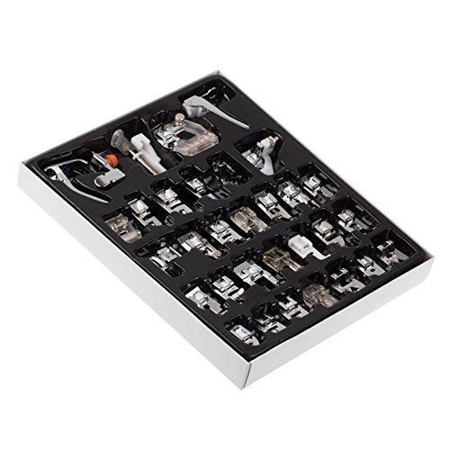 Prensatelas Accesorios Para Máquina De Coser, 32 Piezas Pie De Maquina De Coser, Multifuncional Prensatelas Overlock