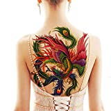 Back Temporary tattoo stickers on women the back, large picture waterproof and durable tattoo (W2)