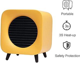 ANKIKI 700W Mini Calefactor,Ahorro energía multifunción portátil Ventilador Calefactor,Tiempo,3 Segundos Calentamiento,Sala Estar Dormitorio Oficina Mesa Uso