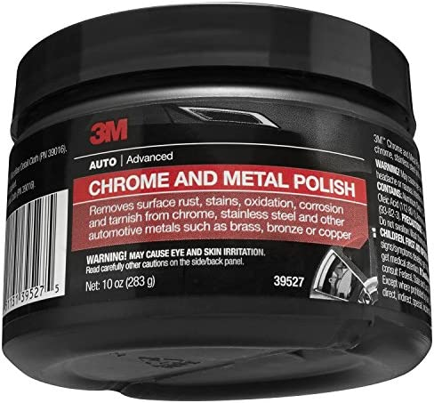 3M Chrome and Metal Polish, 39527, 10 oz