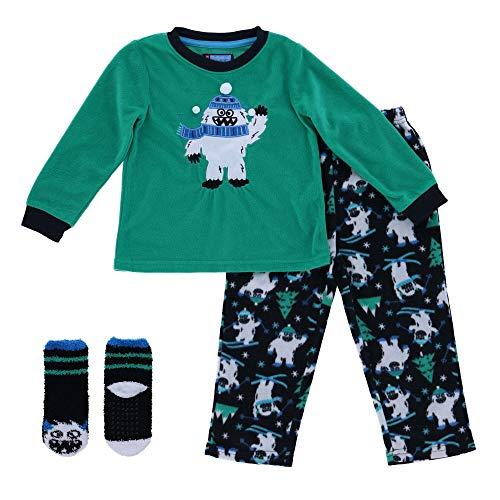 Pijama de Manga Larga para niños con Calcetines de Regalo