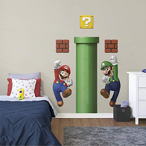 Super Mario: Growth Chart - Officially Licensed Nintendo Removable Wall Decals