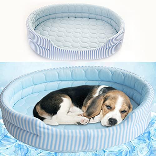 1 alfombrilla de refrigeración para perro, de seda de hielo, cama de verano, lavable, suave, para dormir, para mascotas, hielos, cama de refrigeración adecuada para gatos, pequeños, medianos y grandes