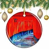 Puerta Torii de Japón Navidad árbol de Navidad decoración de la Boda Colgante Colgante decoración Ciudad Viaje colección de Recuerdos
