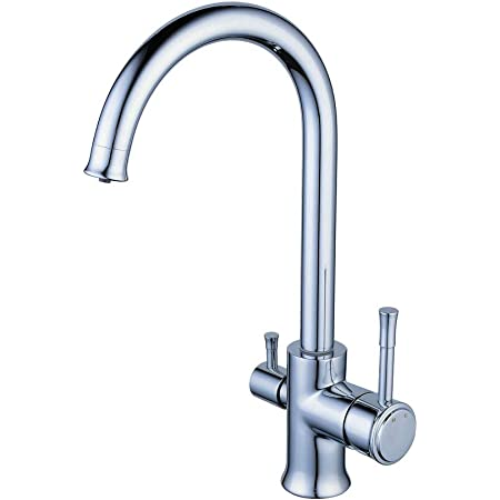 Drinking Water Faucet Dual Handle Commercial Kitchen Sink Faucet Beverage Faucet For Drinking Water Purifier Filter Filtration System 1 4 Inch Tube Chrome Amazon Com