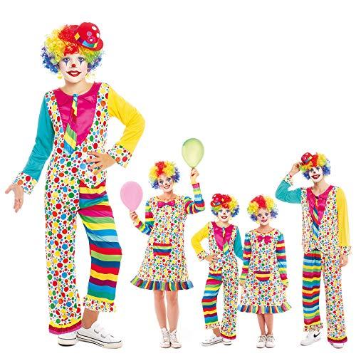 Disfraz Payaso Nio Clown Topos Rayas Chaqueta Corbata PantalnTallas Infantiles 3 a 12 aos[ 3-4 aos] Disfraz Nio Carnaval Profesiones Circo Traje Payaso Actuaciones Desfiles Festivales Teatro