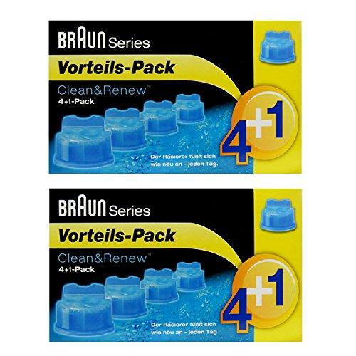 2er Pack 4+1 Pack Braun Clean & Renew CCR 4+1 - 5 x 170ml