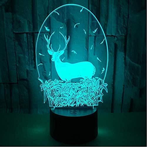 Neu Illusion Light Boxhandschuhe LED Tischlampe Boxen Beleuchtung Kunst 3D Illusion Nachtlicht Sport Dekoration Geschenk