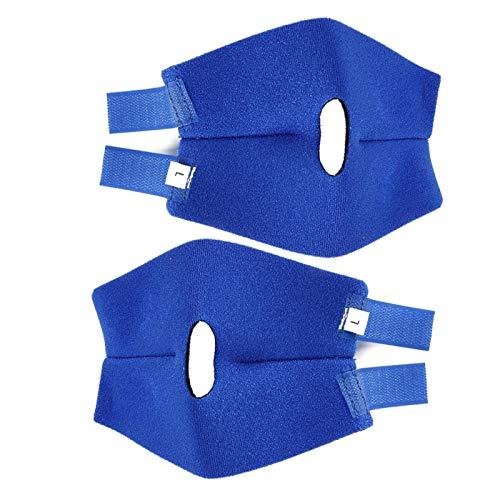 DAUERHAFT Stabiler und Rutschfester Knieschutz für Haustiere, zur Wiederherstellung von Haustieren nach Einer Operation, Zubehör zur Wiederherstellung von Haustieren(Blue, Back Leg L (2 pcs/Set))