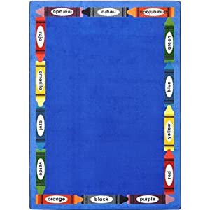 Bilingual Colors Kids Rugs Area Rug 5'4″ X 7'8″
