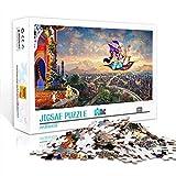 Anime puzzle 1000 piezas cartel de dibujos animados: rompecabezas de madera Aladdin 29,5x19,5 pulgadas juguetes de entretenimiento regalo para la decoración de la pared del hogar