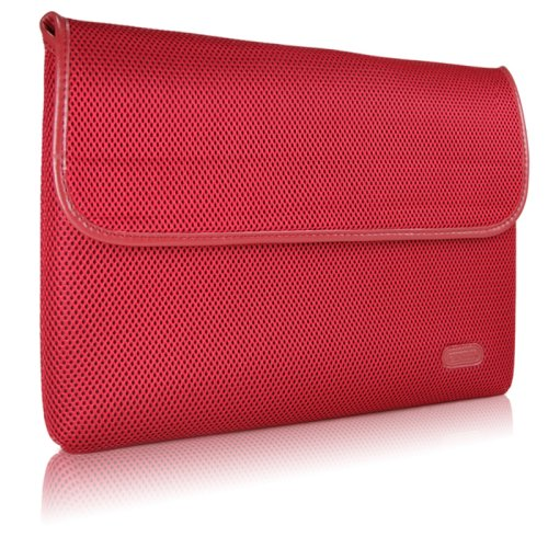 Case-Mate 15' Glovez Sleeve for 15' MacBook Pro Laptop, Neoprene Interior, Perforated Nylon Exterior, Leather Accent, Sienna Red (67644)