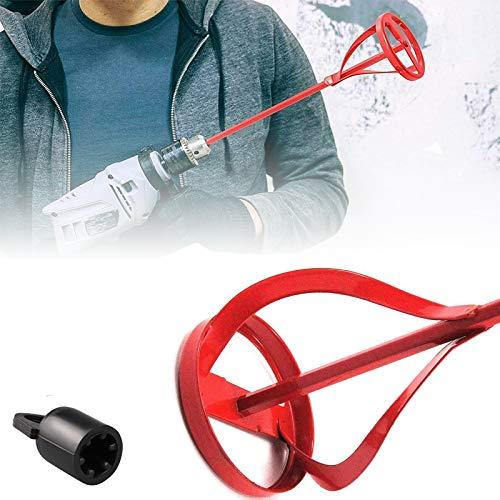 Lhsdmnoj Paint & Paddle Mixer Shaker Stirrer Agitator, 1-5 Gallon, Power Drill Attachment, Hexagon Mud/Motar/Plaster/Cement Whisk 80mm x 420mm