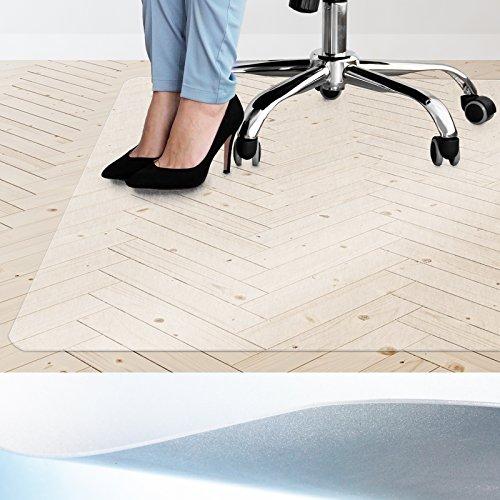 Qualitäts Bodenschutzmatte mit Wunschmaß | Stuhlunterlage für Bürostuhl in vielen Größen | die passende Schutzmatte für Ihr Büro und Privat (Größe 200x160 cm)