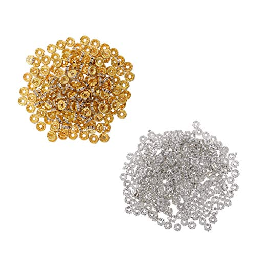 chiwanji 500 Unids 6/8 Mm Crystal Rondelle Spacer Beads para DIY Jewelry Making Hallazgos