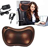 Om anvay 2 in 1 Car&Home Body Massage Pillow neck massager cushion seat stress pain relief relax massage Car or Electronic Massager 8 Ball Neck Shoulder Massager Back Massager Home Office