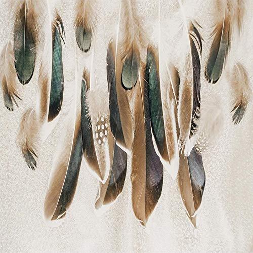 Msrahves fotomurales decorativos pared 3d Creativo pluma retro simple. grande Mural TV Fondo Papel de pared Sala de estar Sofá Dormitorio Papel tapiz Papel pintado creativo moderno tejido no tejido