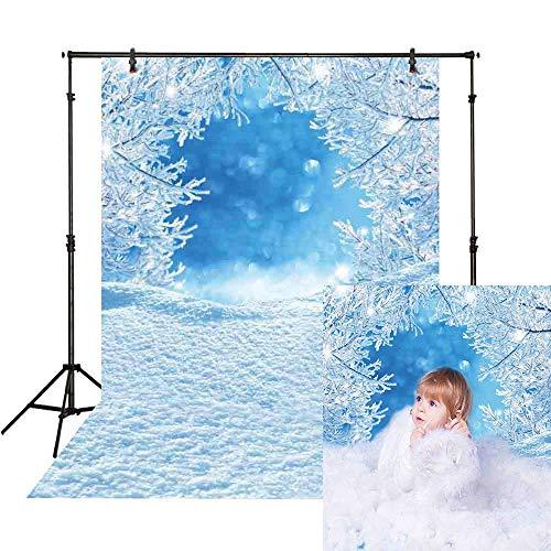 Allenjoy - Fondo de Fotos de 5 x 7 pies, diseño de Frozen Ice Bokeh