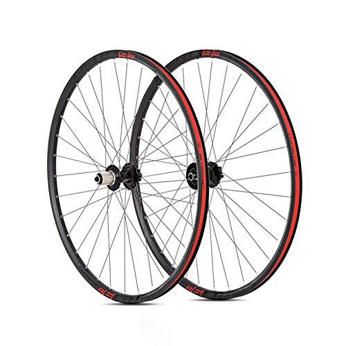 Ruedas Ciclismo,27,5,29 Pulgadas Llanta de Doble Piso Liberación Rápida de 5 Mm Soporta 8-12 Velocidades Apto para Bicicletas Ruedas para Bicicleta Red,29 Inch