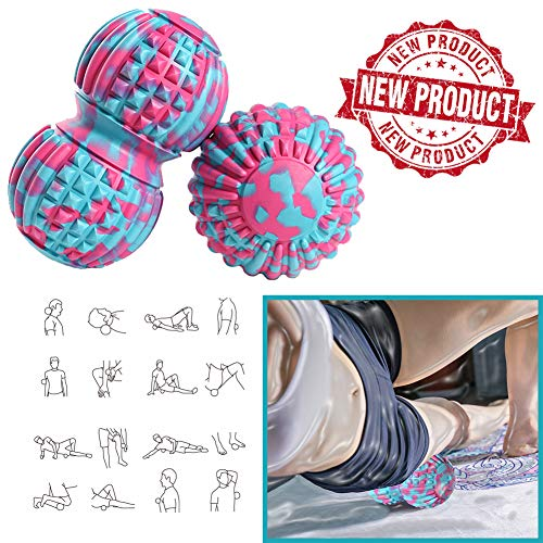Best Prices! FFLLAS Manual Massage Ball, Therapeutic Ball for Trigger Point Massage, Multiple Combinations, Deep Tissue Massager for Myofascial Relaxation-Moving Ball for Exercise and Recovery,Set 6