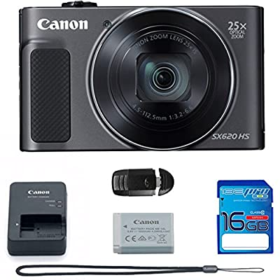 PowerShot SX620 HS Digital Camera (Black) + Deal-Expo Bundle. from Deal-Expo