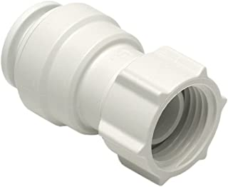Jg Speedfit Female Coupler Tap Connector - White, 15mm x 1/2 Bsp 10 Pack