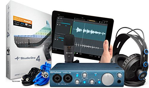 PreSonus AudioBox iTwo Studio USB 2.0 Recording Bundle with Interface,...