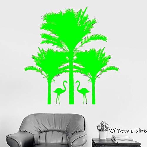 Palm Tree Wall Declas Swan Tatuajes de pared Sala de estar Decoración de arte Tamaño Decoración interior Vivero Decoración de pared Arte Mural Papel pintado Color-2 74x75cm