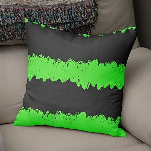 Bonamaison Decoratieve kussenhoes Neon groen Fume gooien kussenhoezen home decoratieve kussenslopen voor woonkamer bank slaapkamer maat 43x43 cmontworpen en vervaardigd in Turkije