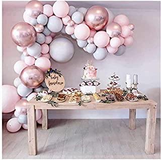 Party Propz Pink Rubber Balloons Garland Arch Kit- 87Pcs For Birthday Decoration Items For Girls/Bride To Be Balloon/Girl ...