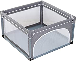 Children's Play Fence Indoor Protective Fence Game Bed Game Playpen Indoor Playground Game Bed Children's Play Area Activity Play Centres (Color : Gray, Size : 120x120x70cm)