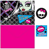 Monster High Birthday Party Invitations Card Supply (8 Pack) Multi Color 3.9 x 6.6. 【Creative Arts】 [並行輸入品]
