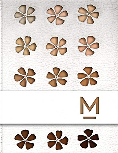 M: Make Up Artist Blank Face Charts - Monogrammed Beauty Student Journal - Bridal Party Make-Up Planner