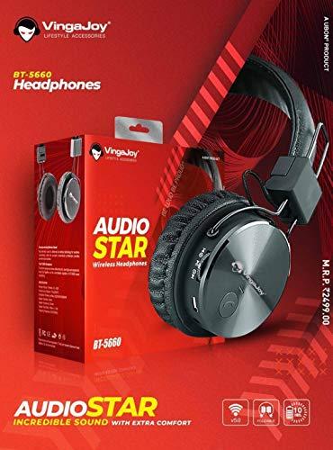 Vingajoy BT-5660 Bluetooth Headphone HIGH Perfomance Bluetooth Headset (Black, On The Ear)