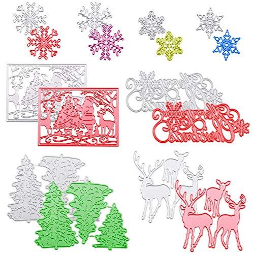 BESLIME Cutting Dies – Animals Cutting Dies Cute Dog Christmas Background Metal Cutting Dies for Scrapbooking DIY Album Paper Card Art Crafts Decoration,2 uds.
