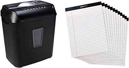 AmazonBasics 12-Sheet Cross-Cut Paper and Credit Card Home Office Shredder & Legal/Wide Ruled 8-1/2 by 11-3/4 Legal Pad - ... photo