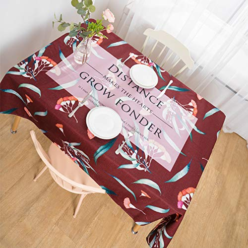Creek Ywh salontafel uit katoen tuintafelkleed uit Amerika landelijke stijl salontafel van katoen en linnen, 200 x 140 cm