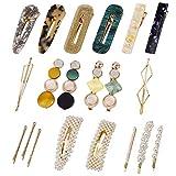 Perle fermagli per capelli, Acrilica perni di Barrettes Accessori 20 pezzi Per Donne e Rag...