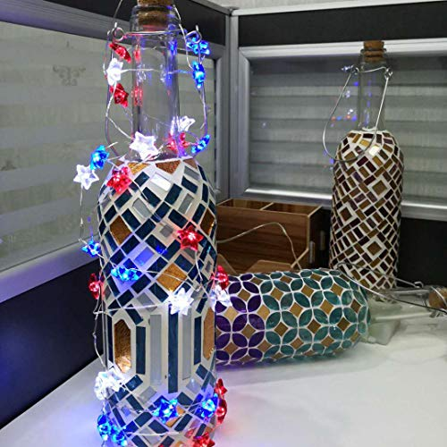 Holitown Decor Wine Bottle Lights (Snow Feather), Bottle Lights Powered by 3 AAA Battery(Not Included), Decorative Lights for Party, Home Decor, Christmas, Halloween, Wedding, Bars(Warm White 1 Pack)
