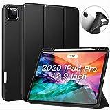 ZtotopHülle Hülle für iPad Pro 12.9 Zoll 2020, Superdünne Smart Cover mit Stifthalter, Automatischem Schlaf/Aufwach, Schutzhülle Hülle für iPad Pro 12.9 2020 4th Gen - Schwarz